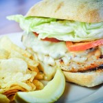 Mushroom and Swiss Chicken Sandwich