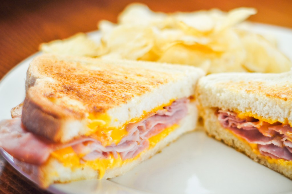 We like grilled ham and cheese around here!